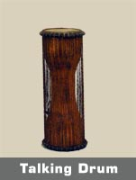 Talking drums, widely used in Ghana especially by the Ashantis, send messages of happiness, sorrow, and war to other tribes through the beating of the drum.